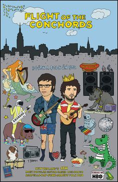 Flight Of The Conchords - Stick a Folk In You. $65.00, via Etsy.