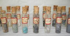 Antique Rock Mineral Bottle Collection
