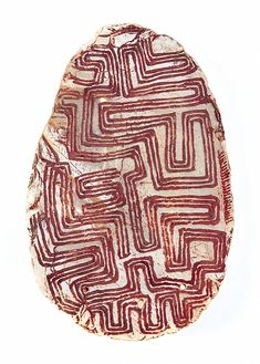 Aboriginal (unknown group, Kimberley, Western Australia), Pendant, pigment/pearl shell, c. mid-20th c.
