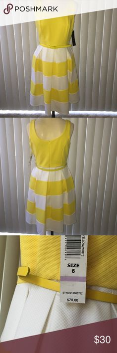 Yellow dress It's a simple yellow spring dress. Never worn but so bright and happy that you will love it in your closet! Reminds me of Jessica Day on New Girl! Tiana B Dresses Midi