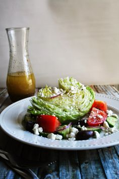 I Thee Cook: Greek Wedge Salad  ~ shared at Brag About It Link Party on VMG206 (Monday's at Midnight). #bragaboutit