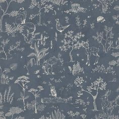 The wallpaper Hollie Dark Blue - from Sandberg is a wallpaper with the dimensions x m. The wallpaper Hollie Dark Blue - belongs to the p Dark Blue Wallpaper, Kids Wallpaper, Wallpaper Samples, Blue Wallpapers, Animal Wallpaper, Pattern Wallpaper, Wallpaper Backgrounds, Beautiful Wallpaper, Wall Wallpaper