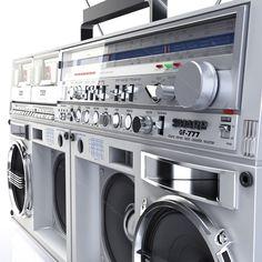 legend boombox sharp gf 3d model Boombox, Hip Hop, Retro, Music, Model, Vintage, Audio System, Musica, Musik