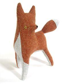#tweed #fox #softie My niece would love this!