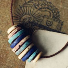 The Traveler rustic ceramic necklace by kylieparry on Etsy, $34.00