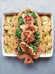 Golden Chicken, Braised Greens and Potato Gratin | Chicken Recipes |Jamie Oliver fifteen minute recipes