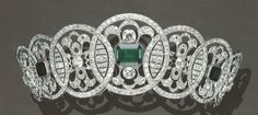 Emerald and Diamond tiara ca. 1910