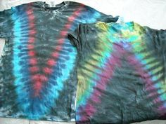 """How to TIE DYE the perfect """"V"""" shape on shirt"""