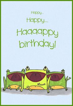 Free Printable Happy Birthday Choir Greeting Card
