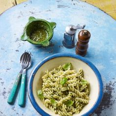 Gino D'Acampo's simple pasta with basil pesto. Click the picture or see www.redonline.co.uk
