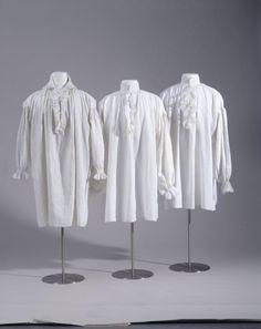Hemd (Männer, Oberbekleidung, Oberteil)  Inventarnummer: T4053 Datierung: Ende 18. Jahrhundert Material/Technik: Leinen, weiß; Leinwandbindu...