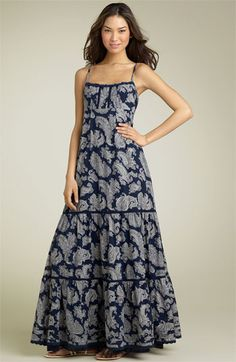 Juicy Couture Paisley Voile Maxi Dress available at #Nordstrom