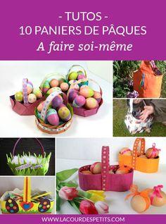 Plus de 10 modèles de paniers de Pâques à faire par ou pour les enfants. De quoi ramasser les chocolats dans le jardin #paques #easter #eastercrafts #bricolagesdepaques #kidsactivities kidscraft #lacourdespetits