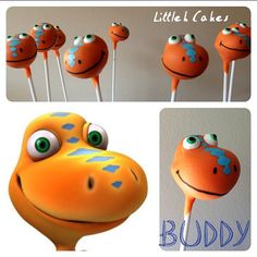 Dinosaur Train Cake Pops by LittlehCakes on Etsy, Dinosaur Train Cakes, Dinosaur Cake Pops, Dino Cake, Trains Birthday Party, Dinosaur Birthday Party, 1st Boy Birthday, 3rd Birthday Parties, Birthday Ideas, Dinasour Cake