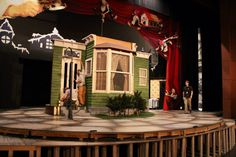 a christmas story on tech tuesday before the production on the allen theatre stage - What Year Is Christmas Story Set