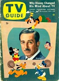 TV Guide - Walt Disney on the cover: 1954