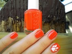 CLEMSON...yep I'm so doing this --- if @Lindsey Taber brings her nail polish to the games! :)
