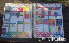 This week's spread. Erin Condren Vertical Planner layout idea