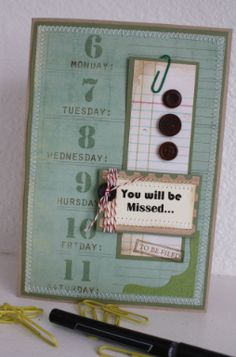 Handmade Little Things: Pixie Dust Paperie May Kit - La Dolce Vita - You will be missed card
