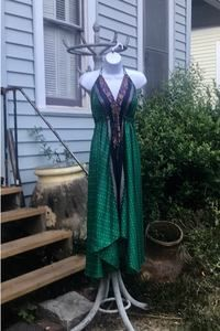 2d79010e7aff3 Used Women s green and blue sari for sale in Atlanta - letgo Festival  Dress