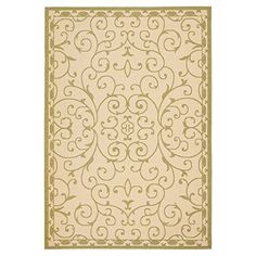 awesome Safavieh Courtyard Collection CY6888-14 Cream and Green Indoor/ Outdoor Area Rug