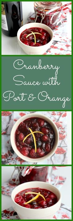 Cranberry Sauce with Port and Orange ~ Perfect for Thanksgiving!