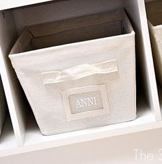 Canvas bins with labels! #organize #labels