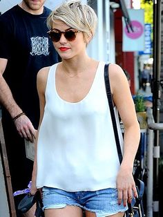 Star Tracks: Thursday, February 13, 2014 | SHORTS STUFF | Julianne Hough pairs her new pixie cut with some equally short shorts for a Wednesday outing in L.A.