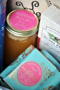 Tea Tin & Jam packaging