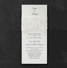 Cherished Lace #Wedding #Invitation