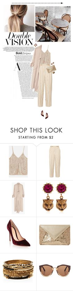 """Double vision"" by miss-milika ❤ liked on Polyvore featuring The Row, Gucci, Gianvito Rossi, Dune, Amrita Singh and Marni"