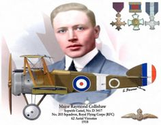 Major Raymond Collishaw was awarded two British decorations during the summer: the Distinguished Service Cross, and the Distinguished Service Order. Returning to the war late November, he was given command of No. 13 Naval Squadron, which was operating from Dunkirk, doing escort duty with the Channel Patrol. By the end of the summer 1918, he had been awarded the Distinguished Flying Cross, and a bar to his Distinguished Service Order.