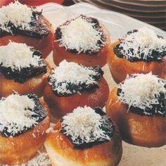 Vdolky pečené v troubě Doughnut, Sushi, Recipies, Food And Drink, Baking, Breakfast, Cake, Ethnic Recipes, Desserts