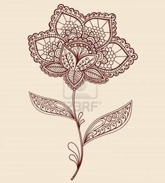 Flower Lace Tattoo. Probably my favorite design. Use this as inspiration to finish around my peacock