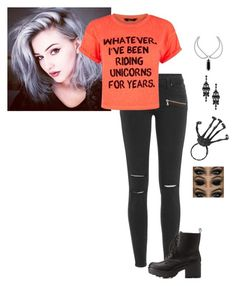 """""""The Halloween Halloween Costume 2015"""" by hanakdudley ❤ liked on Polyvore featuring Paige Denim and Charlotte Russe"""
