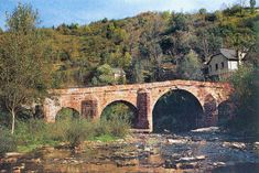 Conques - pont romain - (Aveyron)