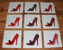 NO SLICE FEE 9  Red High Heel Shoes Quilt Blocks