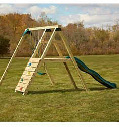 Pine Bluff No-Cut Ready-to-Assemble Play Set Kit - Jess Conde - Re-Wilding Backyard Swing Sets, Backyard Playset, Diy Swing, Backyard For Kids, Backyard Projects, Backyard Ideas, Playset Diy, Outdoor Playset, Playhouse Outdoor