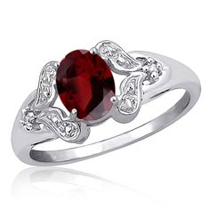 Garnet Gemstone Rings : Free Shipping on orders over $45 at Overstock.com - Your Online Rings Store! Get 5% in rewards with Club O!
