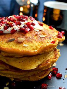 Kürbis-Pancakes mit