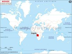 Où est l'Angola - Location of #Angola on World Map.