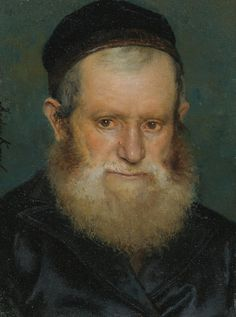 Isidor Kaufmann (Hungarian 1853-1921) (Small) Portrait of a Rabbi, oil on panel, 8,5 x 6,3 cm.