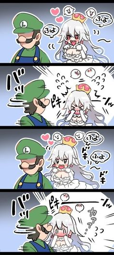 Cartoon Video Games, Video Game Movies, Mario Comics, Chibi, King Boo, Super Mario 3d, Geek Games, Mario And Luigi, Super Smash Bros