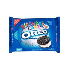 Nabisco Oreo Birthday Cake Flavor Creme Chocolate Sandwich Cookies,... ($2.98) ❤ liked on Polyvore featuring food