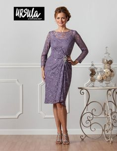 Ursula 41291 Plus Size Short Lace Formal Dress