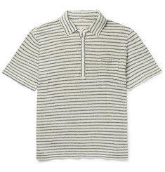 Massimo Alba - Wembley Striped Linen Polo Shirt