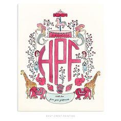 Rachel Rogers Design customized crests/monograms