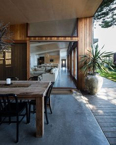Small 70s Home in Australia, Gets Creative, Eco-Friendly Extension. Oh for walls of windows!