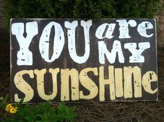 You Are My Sunshine  Rustic  Two Color Text  by ExpressionsWallArt, $65.00