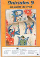 "Gallery.ru / geminiana - Альбом ""iniciales 9"" Cross Stitch Alphabet, Cross Stitch Embroidery, Alphabet Words, Cross Stitch Magazines, Word Art, Album, Baseball Cards, Crochet, Pattern"